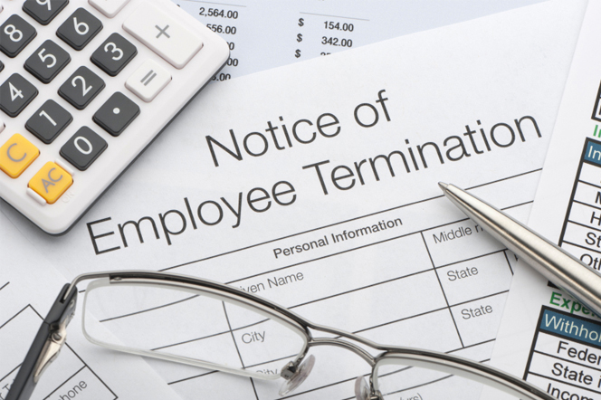 Employment Termination Notice Document